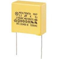 TRU COMPONENTS MKP-X2 1 St. MKP-X2-Funkentstör-Kondensator radial bedrahtet 2.2 µF 275 V/AC 10 % 27.5 mm (L x B x H) 32 x 18 x 30 mm