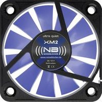 NoiseBlocker BlackSilent XM-2 PC-Gehäuse-Lüfter Schwarz, Blau (transparent) (B x H x T) 40 x 40 x 10 mm