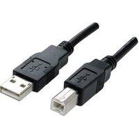 Manhattan USB 2.0 Câble de raccordement [1x USB 2.0 type A mâle - 1x USB 2.0 type B mâle] 3 m noir contacts dorés