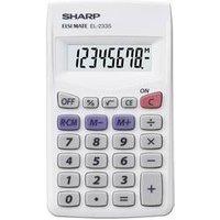 Sharp EL-233 S Taschenrechner Weiß Display (Stellen): 8 batteriebetrieben (B x H x T) 62 x 8 x 105 mm