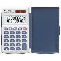 Sharp EL-243 S Taschenrechner Weiß, Blau Display (Stellen): 8 solarbetrieben, batteriebetrieben (B x H x T) 64 x 11 x 105 mm