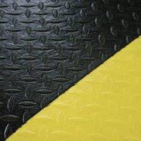 Tapis de lieu de travail Orthomat® Safety Diamond COBA Europe noir, jaune x 1200 mm x 9 mm