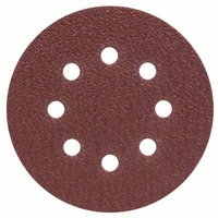 Bosch Accessories 2607019491 Router sandpaper Hook-and-loop-backed, Punched Grit size 40 (Ø) 125 mm 25 pc(s)