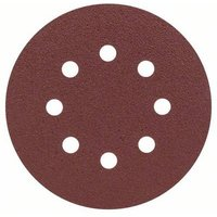 Bosch Accessories 2607019493 Router sandpaper Hook-and-loop-backed, Punched Grit size 80 (Ø) 125 mm 25 pc(s)