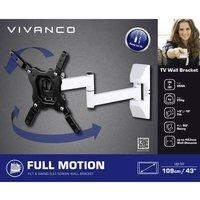 Vivanco BFMO 6020 W TV wall mount 81,3 cm (32) - 109,2 cm (43) Swivelling/tiltable