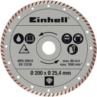 Diamond cutting disc Radial tile cutter accessories Einhell 4301175 Diameter 200 mm 1 pc(s)