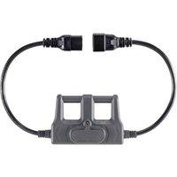 VOLTCRAFT CAA-1L 16 Test lead adapter IEC C20 plug - IEC C19 socket Dark grey
