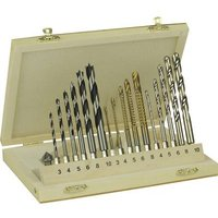 Brueder Mannesmann M54317 Wood twist drill bit set 17-piece 1 pc(s)
