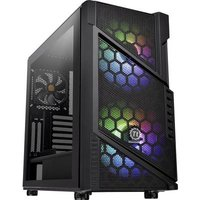 Thermaltake Commander C31 TG Midi tower PC casing, Game console casing Black 2 built-in LED fans, Built-in fan, Window, LC compatibility, Dust filter,