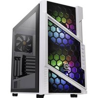 Thermaltake Commander C31 TG Midi tower PC casing, Game console casing White, Black 2 built-in LED fans, Built-in fan, Window, LC compatibility, Dust filter,