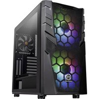 Thermaltake Commander C32 TG Midi tower PC casing, Game console casing Black 2 built-in LED fans, Built-in fan, LC compatibility, Window, Dust filter,