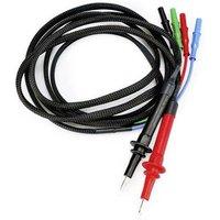 HT Instruments KIT Kelvin Jack plug Banana jack, 4 mm socket, 4 mm jack connector Green 1 pc(s)