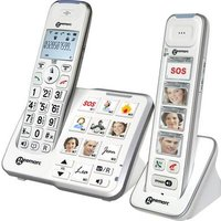 Geemarc Mobility Pack Foto Cordless analogue Answerphone, Camera button, Hands-free, Hearing aid compatibility White