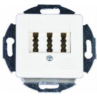 KOMOS 25383F9M Phone socket Phone Flush mount Pure white (RAL 9010)