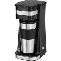 Clatronic KA 3733 Coffee maker Stainless steel, Black Cup volume=1