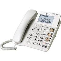 Geemarc CL595 Corded Big Button Answerphone, Hands-free, Visual call notification, Hearing aid compatibility, incl. emergency call transmitter, base