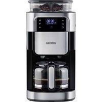 Severin KA 4813 Coffee maker Black, Stainless steel (brushed) Cup volume=10 Display, Glass jug, incl. grinder, Timer, Plate warmer, incl. filter coffee maker