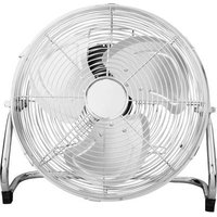 EMERIO Floor fan 50 W (Ø x H) 30 cm x 38.5 cm Chrome