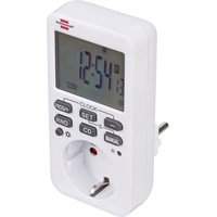 Brennenstuhl 1506320 Timer digital 7 day mode 3600 W IP20 Count-down mode, 24/7 operation, Programmable ON/AUTO/OFF settings, RND mode, Timer mode, Progammable