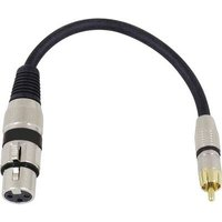 Omnitronic 3022075J XLR Adapter cable [1x XLR socket 3-pin - 1x RCA plug (phono)] 0.15 m Black