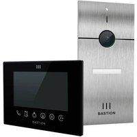 Bastion BA.KIT.UN.INOX.BLK Video door intercom LAN Outdoor panel, Indoor panel Detached Stainless steel (brushed), Black