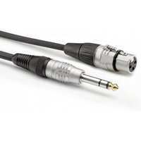 Hicon HBP-XF6S-0900 Audio/phono Adapter cable [1x Jack plug 6.3 mm (stereo) - 1x XLR socket 3-pin] 9.00 m Black