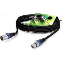 Hicon GA1B-0250-SW-BL XLR Cable [1x XLR socket 3-pin - 1x XLR plug 3-pin] 2.50 m Black
