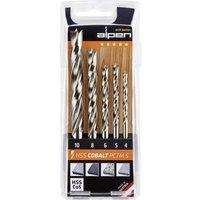 Alpen 0063300005100 Wood twist drill bit set 5-piece 4 mm, 5 mm, 6 mm, 8 mm, 10 mm 1 pc(s)