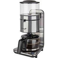 Korona Coffee maker Black, Stainless steel Cup volume=10 Plate warmer, Glass jug