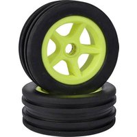 Carson Modellsport 1:10 Buggy Complete wheels #####Paddle 5-spoke Neon yellow 4 pc(s)