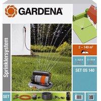 GARDENA 08221-20 OS 140 Retractable square sprinkler set 2 - 140 m²