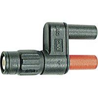 Staeubli;XM-BB/4;Test lead adapter;BNC plug - 4 mm socket;Scoop-proof;Black, Red