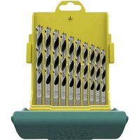 Heller 28708 1 Wood twist drill bit set 10-piece 3 mm, 4 mm, 5 mm, 6 mm, 7 mm, 8 mm, 9 mm, 10 mm, 11 mm, 12 mm Cylinder shank 1 Set