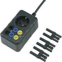 VOLTCRAFT;SMA-10;Test lead adapter;PG plug - 4 mm socket, PG connector;Scoop-proof;Black