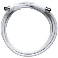 Axing Antennas Cable [1x Belling-Lee/IEC plug 75Ω - 1x Belling-Lee/IEC socket 75Ω] 1.25 m 85 dB White