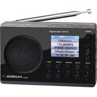 Albrecht DR 70 Portable radio DAB+, FM Torch Black