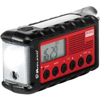 Midland C1173 Outdoor radio FM Torch, rechargeable Black, Red