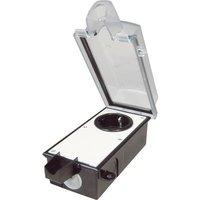 interBaer 9015-002.81 Surface-mount socket Lockable Black, Transparent