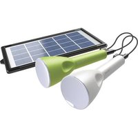 Sundaya 3486 JouLite 150 KIT2 LED (monochrome) Camping light 150 lm solar-powered, rechargeable, via USB 95 g Green, White