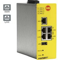 MB Connect Line Industrial router LAN, USB No. of inputs: 4 x No. of outputs: 2 x 24 V DC