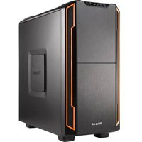 BeQuiet Silent Base 600 Midi tower Game console casing Orange, Black 2 built-in fans, Tool-free HDD bracket