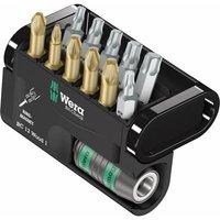 Wera Bit-Check 12 Wood 1 05057423001 Bit set 12-piece Pozidriv, Phillips, TORX socket