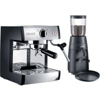 Graef Pivalla EUSET Espresso machine with sump filter holder Stainless steel 1410 W incl. frother nozzle