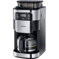 Severin KA 4810 Coffee maker Stainless steel (brushed), Black Cup volume=10 incl. grinder, Timer