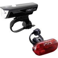 Cateye Bike Light Set Gvolt25/omni3g Led Rechargeable, Battery-powered Black