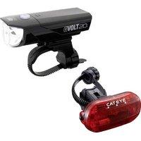 Cateye Bike Light Set Gvolt20 + Omni3g Led Battery-powered Black, Red