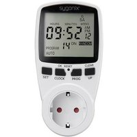 Sygonix 1625525 Timer/power strip digital 7 day mode 3680 W Timer mode, ON/OFF function, RND mode