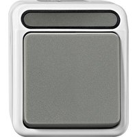 Schneider Electric 1-piece Wet room switch product range Complete Switch AQUASTAR Light grey 4074988