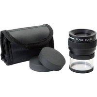 Ideal Tek M12071 Handheld magnifier incl. graduation Magnification: 7 x Lens size: (Ø) 25 mm Black