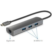 Renkforce Network adapter/hub 1 Gbps USB-C™ USB 3.1, LAN (10/100/1000 Mbps), USB 3.0